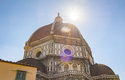 The famous Brunelleschi`s dome of the Cathedral in Florence Royalty Free Stock Photography