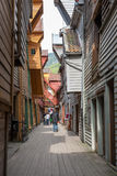 The famous Bryggen in Bergen, Norway. Colorful Royalty Free Stock Photo