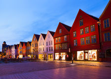 Famous Bryggen street in Bergen - Norway Royalty Free Stock Photos