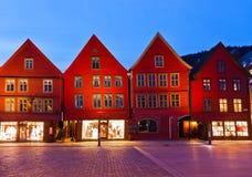 Famous Bryggen street in Bergen - Norway Royalty Free Stock Photography