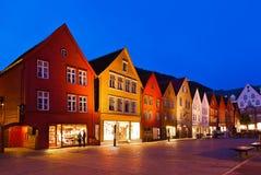Famous Bryggen street in Bergen - Norway Stock Images