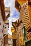 Famous Bryggen street in Bergen - Norway Stock Image
