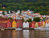 Famous Bryggen street in Bergen - Norway Stock Image