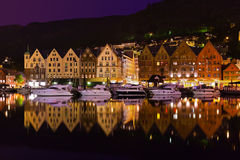 Famous Bryggen street in Bergen - Norway Stock Photography