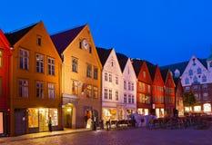 Famous Bryggen street in Bergen - Norway Royalty Free Stock Images
