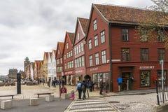 Famous Bryggen street Stock Photography
