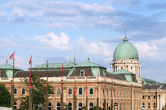 Famous Budapest royal castle Royalty Free Stock Photo