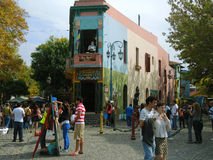 The famous. BUENOS AIRES – MARCH 31: The famous Caminito in La Boca on March 31, 2013 in Buenos Aires. La Boca is a popular and colorful destination for Stock Photo