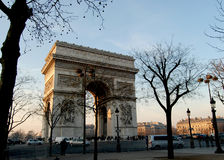 Arc de Triomphe. Famous building in Paris, Christmas, Arc de Triomphe Royalty Free Stock Photo