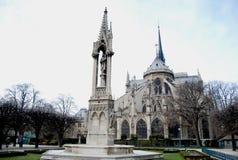 Cathedral Notre Dame De Paris. Famous building in Paris, Christmas Stock Photos