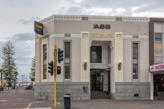 Auckland Savings Bank Napier New Zealand Stock Photos