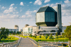 Famous Building National Library Of Belarus In Royalty Free Stock Image