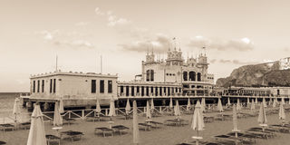 Famous Building at Palermo: Stabilimento Balneare Royalty Free Stock Photos