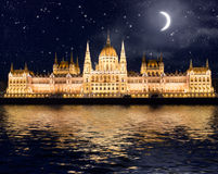 Famous building of Parliament in Budapest Stock Image