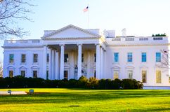 The famous building in the US America, the White House stock image