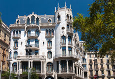 Famous building was designed by Antoni Gaudi Stock Image