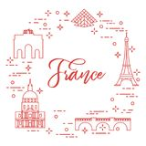 Famous buildings of Paris. Symbols and landmarks. Travel and leisure Royalty Free Stock Photography