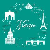 Famous buildings of Paris. Symbols and landmarks. Travel and leisure Royalty Free Stock Photos