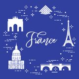 Famous buildings of Paris. Symbols and landmarks. Travel and leisure Stock Photo