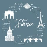Famous buildings of Paris. Symbols and landmarks. Travel and leisure Royalty Free Stock Image