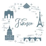 Famous buildings of Paris. Symbols and landmarks. Travel and leisure Royalty Free Stock Photo