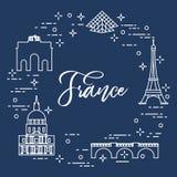 Famous buildings of Paris. Symbols and landmarks. Travel and leisure. Vector. Famous buildings of Paris. Symbols and landmarks. Travel and leisure vector illustration