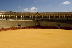 Famous bull ring in Seville Royalty Free Stock Photography