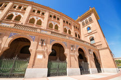 Famous Bullfighting arena in Madrid. Royalty Free Stock Photos