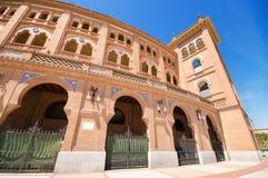 Famous Bullfighting arena in Madrid. Plaza de toros de las Ventas Royalty Free Stock Photos