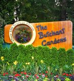 The famous Butchart Gardens at Victoria, Canada stock images