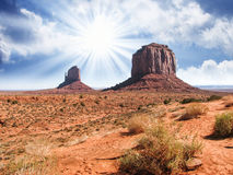 The famous Buttes of Monument Valley Royalty Free Stock Images