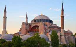 Famous Byzantine Hagia Sophia Royalty Free Stock Photography