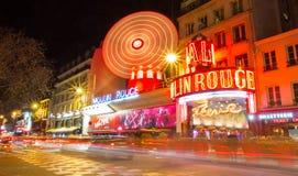 The famous cabaret Moulin Rouge, Paris, France. Royalty Free Stock Image