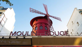 The famous cabaret Moulin Rouge, Paris, France. Royalty Free Stock Images