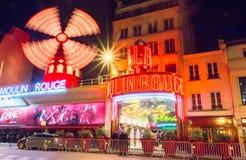 The famous cabaret Moulin Rouge, Paris, France. Stock Image