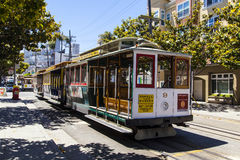 Famous Cable Car Bus near Fishermens Wharf Stock Images