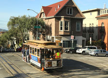The famous cable car in San Francisco Royalty Free Stock Photos
