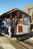 The famous cable car in San Francisco Stock Photo