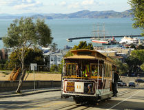 The famous cable car in San Francisco, USA Stock Photo