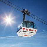 Famous cable way in Val d'Isere Royalty Free Stock Photo