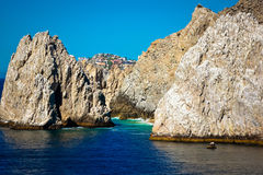 Famous Cabo cliffs. The Famous Cabo Arch/cliffs in Cabo San Lucas, Mexico Stock Image