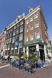 Famous cafe in Amsterdam Old Town. Royalty Free Stock Photography