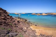 Cala Pregonda, Menorca, Spain Royalty Free Stock Photos
