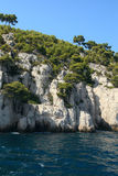 The famous Calanques of Cassis, near Marseille, Royalty Free Stock Images