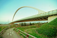 Calatrava bridge in Reggio Emilia in northern Italy Royalty Free Stock Image