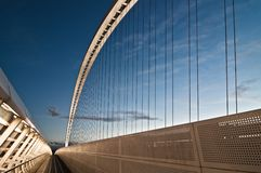 Calatrava bridges in Reggio Emilia in northern Italy. Famous Calatrava bridges in Reggio Emilia in northern Italy Royalty Free Stock Images