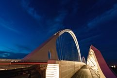 Calatrava bridges in Reggio Emilia in northern Italy. Famous Calatrava bridges in Reggio Emilia in northern Italy Stock Photos