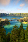 Famous caldera on Azores Stock Photography