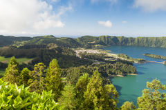 Famous caldera on Azores Royalty Free Stock Image