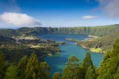 Famous caldera on Azores Stock Images